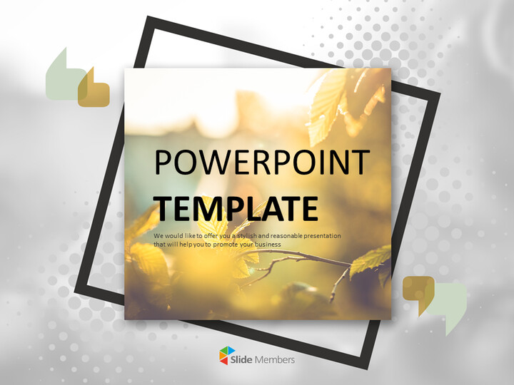 Free Google Slides Template Design - Leaves Turning Red and Yellow_01