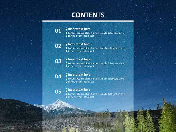 Free Images for Google Slides - Twinkle Night Sky_02