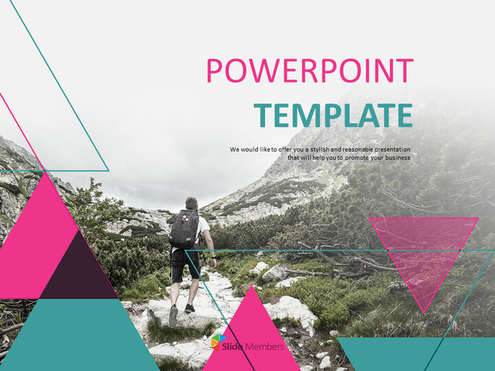 Google Slides Template Free Download - Hiking on the Mountain_01