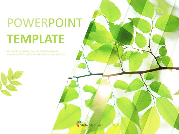 6 월 신선한 잎 - 무료 Google 슬라이드 템플릿_01
