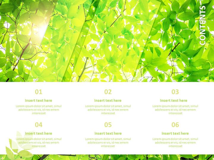 6 월 신선한 잎 - 무료 Google 슬라이드 템플릿_02