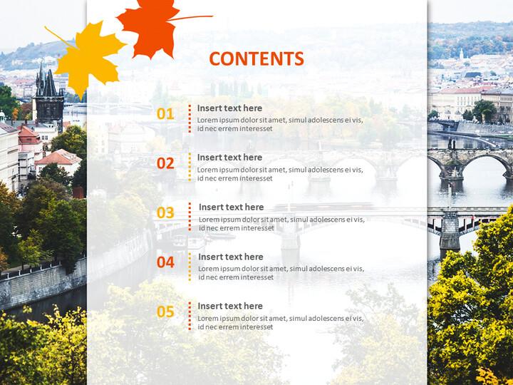 가을 도시 풍경 - 무료 프리젠테이션 템플릿_02