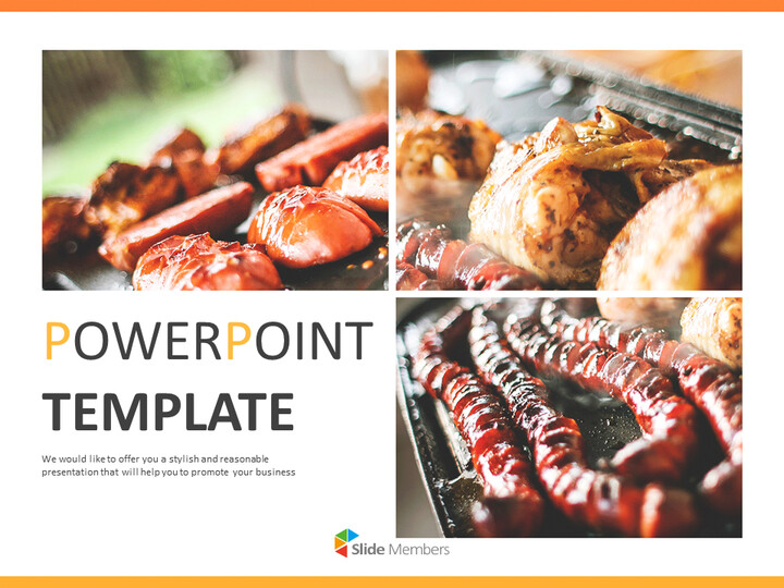 무료 Google 슬라이드 템플릿 디자인 - 야영 바베큐 파티_01