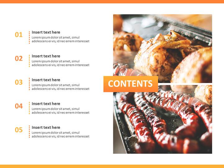무료 Google 슬라이드 템플릿 디자인 - 야영 바베큐 파티_02