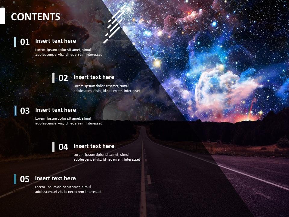 Universe Planet Free Presentation Template
