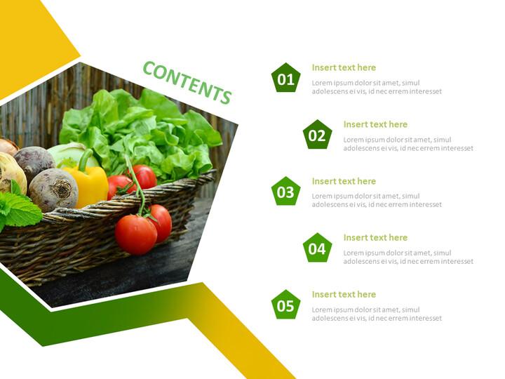 야채 - 무료 구글 슬라이드 템플릿 디자인_02