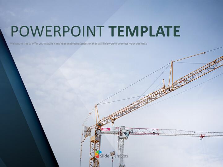 무료 비즈니스 구글 슬라이드 템플릿 - 건설 크레인_01