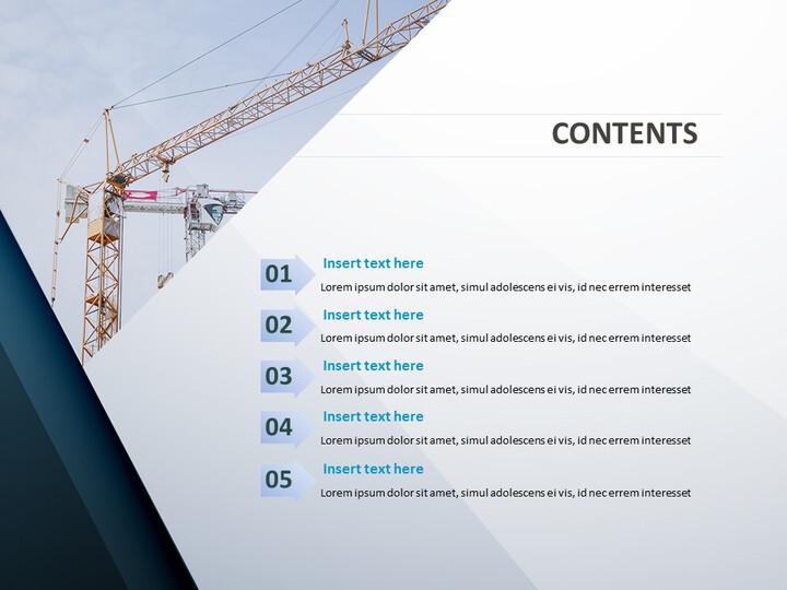 무료 비즈니스 구글 슬라이드 템플릿 - 건설 크레인_02