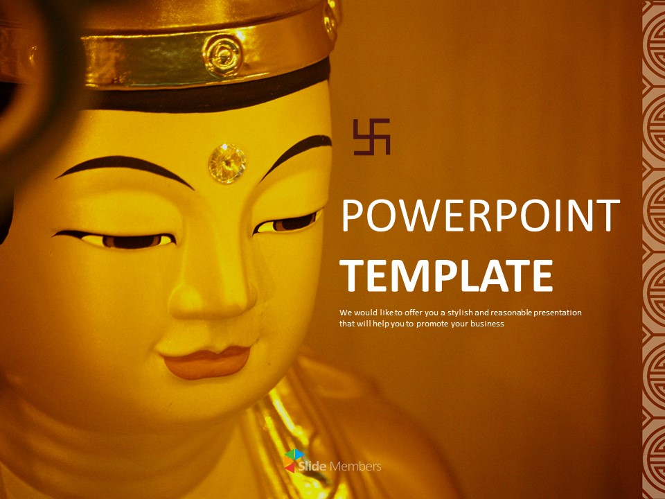 Free Google Slides Template Statue Of The Buddha