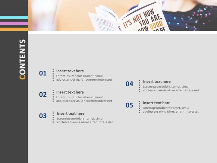 Google 슬라이드 무료 다운로드 - 책을 읽는 소녀_02