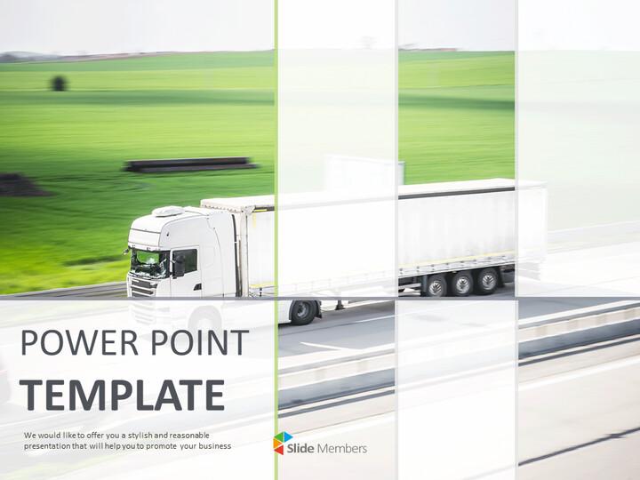 구글 슬라이드 템플릿 무료 다운로드 - 도로에서 달리는 트럭_01