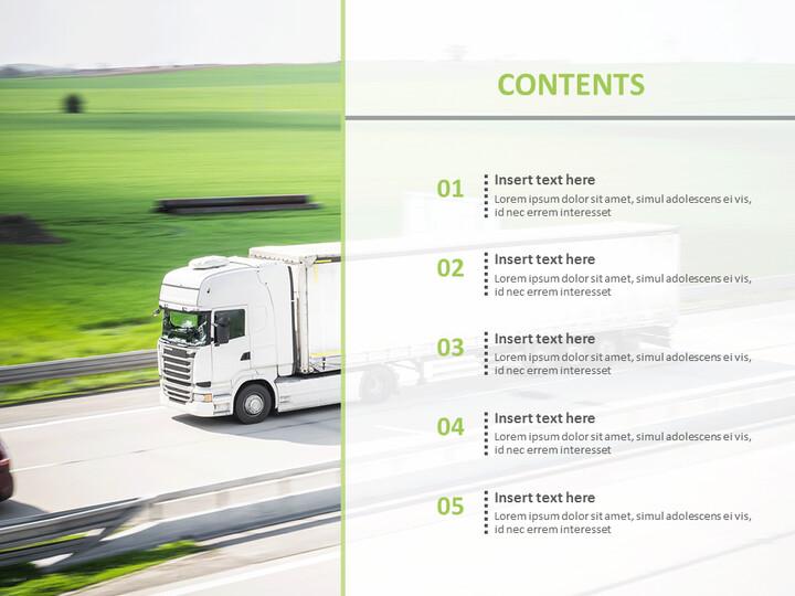 구글 슬라이드 템플릿 무료 다운로드 - 도로에서 달리는 트럭_02