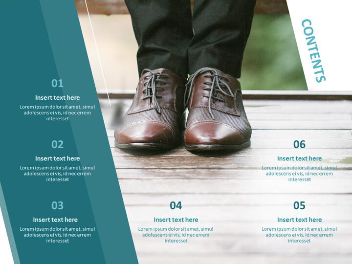 신발을 신는 남자 - 무료 Google 슬라이드 템플릿 디자인_02