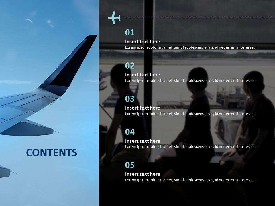 Flight Attendant Free Presentation Template