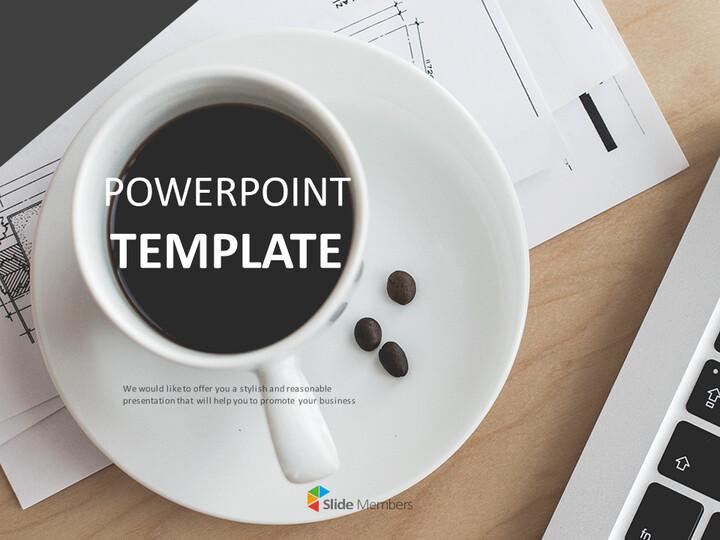 구글 슬라이드 템플릿 무료 다운로드 - 테이블에 커피_01