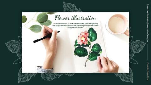 Flower line illustration Easy Slides Design_02