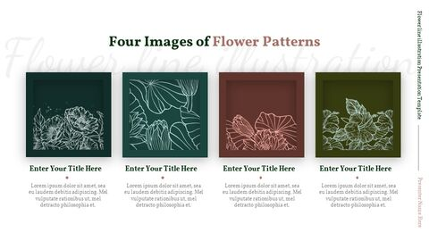 Flower line illustration Easy Slides Design_03