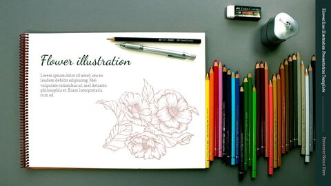 Flower line illustration Easy Slides Design_04