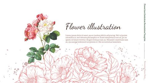Flower line illustration Easy Slides Design_05