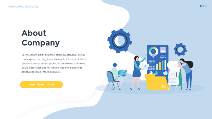 Infographic 평면 디자인 서식 파일 맞춤형 구글 슬라이드_02
