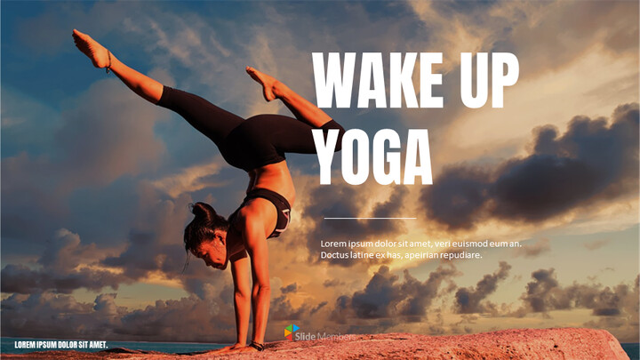 Wake Up Yoga Google Slides for mac_01