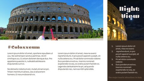 The Major Tourist Attractions In Italy Google Presentation Templates_02