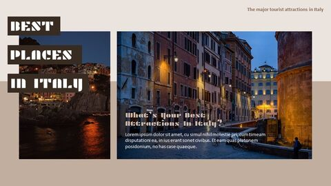 The Major Tourist Attractions In Italy Google Presentation Templates_04