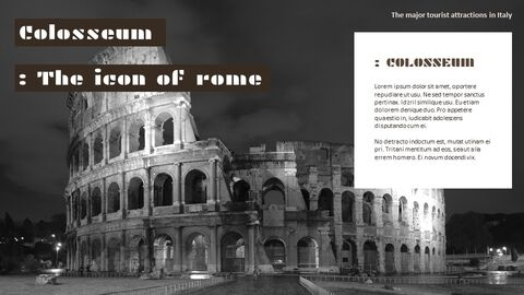 The Major Tourist Attractions In Italy Google Presentation Templates_05
