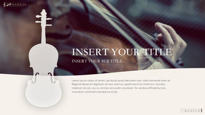 바이올린과 첼로 키노트 프레젠테이션 템플릿_02