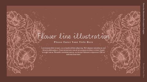 꽃 라인 일러스트 심플한 키노트 템플릿_02