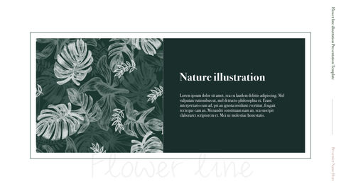 Flower line illustration Simple Keynote Template_04