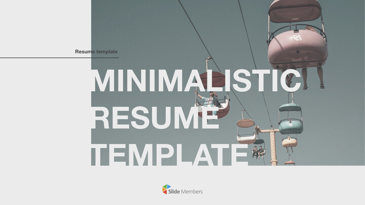 Minimalistic Resume Template PowerPoint for mac_01
