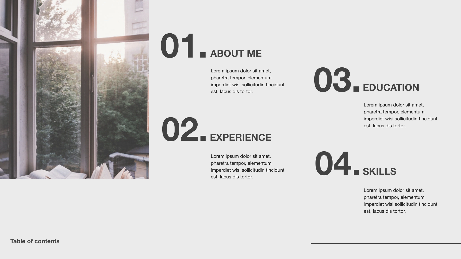 Minimalistic Resume Template Powerpoint For Mac Business Keynote