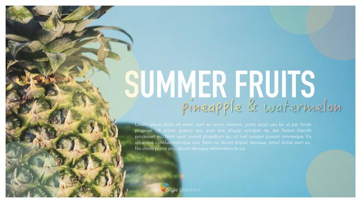 summer pineapple & watermelon Simple Keynote Template_01