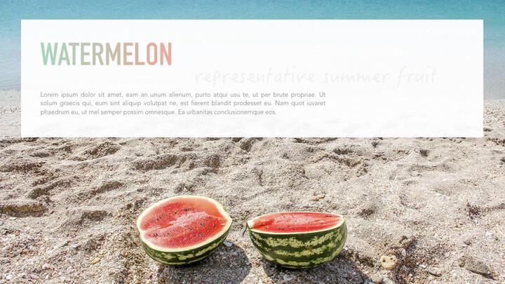 summer pineapple & watermelon Simple Keynote Template_02