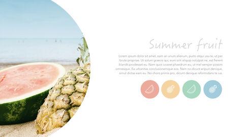 summer pineapple & watermelon Simple Keynote Template_04