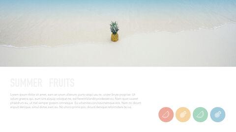 summer pineapple & watermelon Simple Keynote Template_20