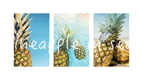 summer pineapple & watermelon Simple Keynote Template_24