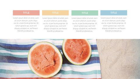 summer pineapple & watermelon Simple Keynote Template_25