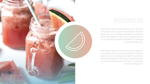 summer pineapple & watermelon Simple Keynote Template_28