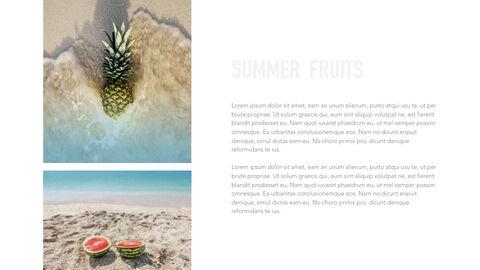 summer pineapple & watermelon Simple Keynote Template_34