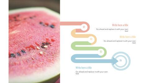 summer pineapple & watermelon Simple Keynote Template_36