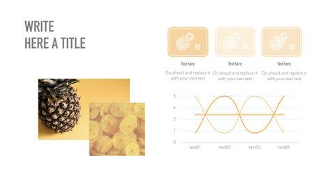 summer pineapple & watermelon Simple Keynote Template_39