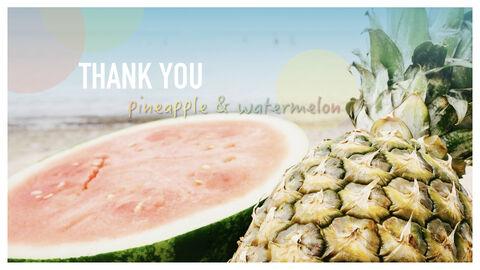 summer pineapple & watermelon Simple Keynote Template_41