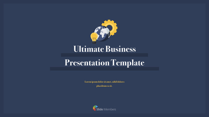 Ultimate Business Simple Template Keynote to PPT_01