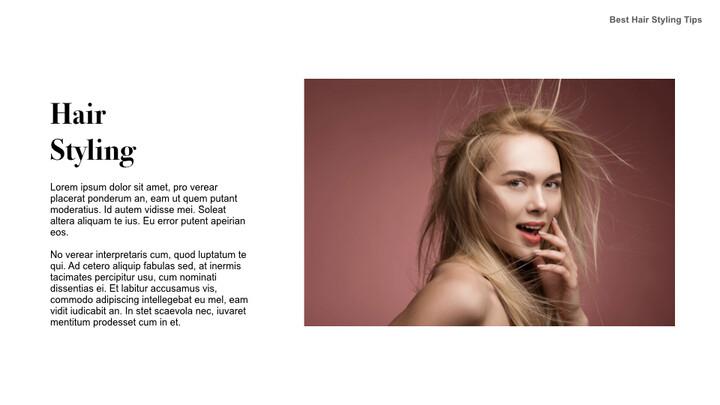 Best Hair Styling Tips Theme Keynote Design_02