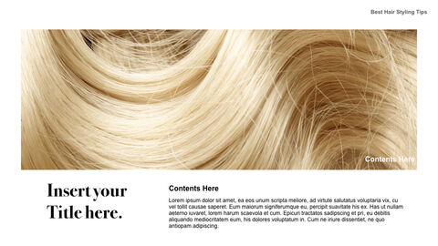Best Hair Styling Tips Theme Keynote Design_02