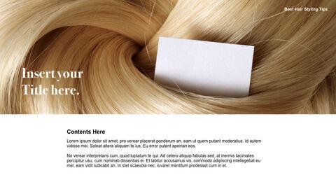 Best Hair Styling Tips Theme Keynote Design_07