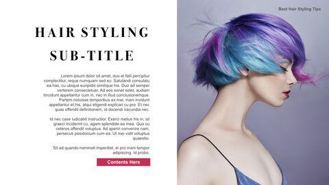Best Hair Styling Tips Theme Keynote Design_08