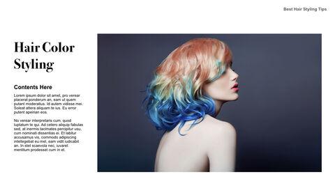 Best Hair Styling Tips Theme Keynote Design_14